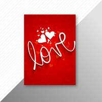 Beautiful valentine's day card brochure template background