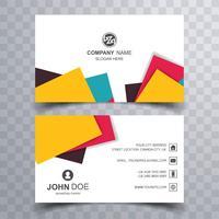 Cartão de visita criativo elegante conjunto modelo vector