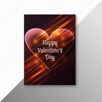Design de brochura de cartão de corações coloridos de dia dos namorados