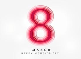 happy women's day background in papercut style