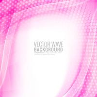 Abstract pink creative wave with halftone background
