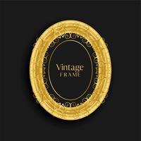 lyxig vintage guld antik ram design
