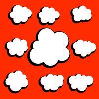 uppsättning olika komiska moln design