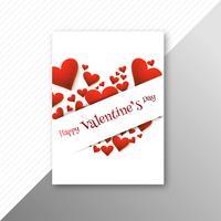 Valentijnsdag kleurrijke harten kaart creatieve sjabloonontwerp