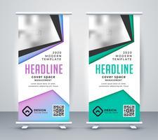 geometrisk företagsvals upp banderollsmall