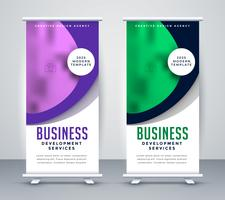 snygg business roll up banner mall design