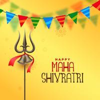 festival hindu maha shivratri saudação fundo
