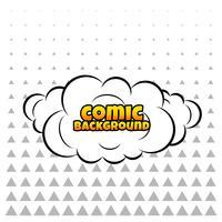 nube cómica o fondo de humo