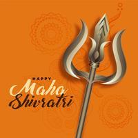 lord shiva trishul per il festival del maha shivratri