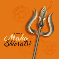 seigneur shiva trishul pour le festival de maha shivratri