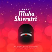 maha shivratri greeting background with shivling