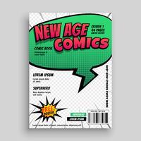 conception de modèle de couverture de page de bande dessinée