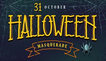 Halloween Retro Banner med Lettering
