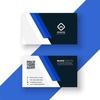 design modello di biglietto da visita blu professionale