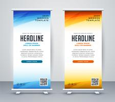 modello di banner design roll up stand professionale