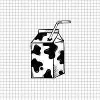 Ilustración de leche aislada en el fondo