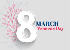happy women's day greeting background