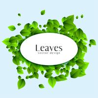 abstract leaves background with text space