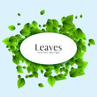 abstrakt löv bakgrund med text utrymme