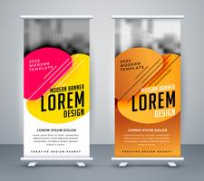 modern standee design in abstract style