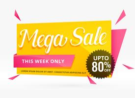 mega sale banner design for promotion