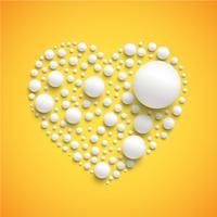 Corazón hecho por esferas realistas.