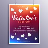 gelukkige Valentijnsdag evenement flyer ontwerpsjabloon