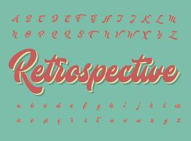 Jeu de caractères rétro, illustration vectorielle