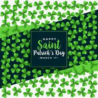 saint patricks day green clover leaves oattern background