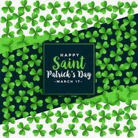 saint patricks day green clover leaves oattern background