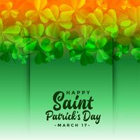 saint patricks day festival clover leaves background