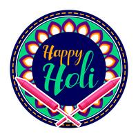 Happy holi Feier Gruß Hintergrund