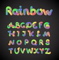 Colorido conjunto de caracteres, ilustración vectorial