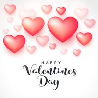 3d hjärtan bakgrund för valentines dag