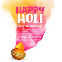 happy holi festival celebration greeting poster design