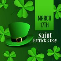 st patricks day leprechaun hat background