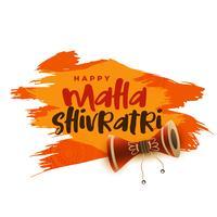 Fondo de saludo festival hindú maha shivratri