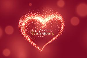 beautiful glowing sparkles heart background