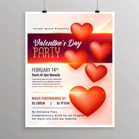 Happy Valentines Day Event Flyer Entwurfsvorlage