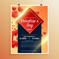 awesome flyer template for valentines day