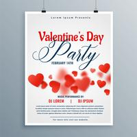 conception de flyer fête belle Saint Valentin