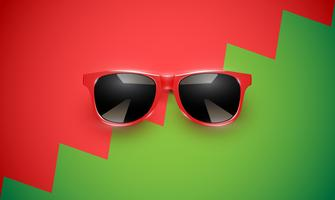 Realistic vector sunglasses on a colorful background, vector illustration