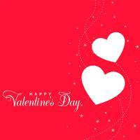 Fondo de corazones de día de San Valentín rojo hermoso