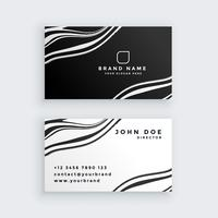 black and white marble business card design