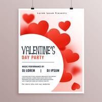 stilig valentines day party flyer design