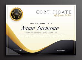 lyx certifikat av uppskattning mall
