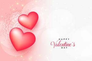 beautiful valentines day greeting with text space