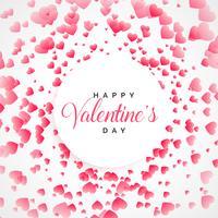 fond de voeux joyeux Saint Valentin coeurs