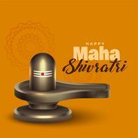 idole réaliste shivling seigneur shiva pour le festival de maha shivratri