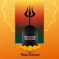 happy maha shivratri festival backgrond with shivling